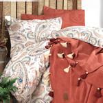 Постельное белье с пледом Istanbul Home Collection BOHO хлопковый ранфорс корица евро, фото, фотография