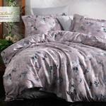 Постельное белье Istanbul Home Collection PURE SATIN HELEN хлопковый сатин серый евро, фото, фотография