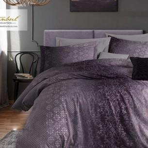 Постельное белье Istanbul Home Collection PURE SATIN SHELLY хлопковый сатин лиловый евро