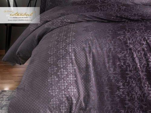Постельное белье Istanbul Home Collection PURE SATIN SHELLY хлопковый сатин лиловый евро, фото, фотография
