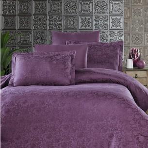 Постельное белье Ecosse SATIN JAKARLI GARDENIA хлопковый сатин-жаккард фиолетовый евро