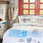 Постельное белье Ozdilek RANFORCE DREAM LOVE хлопковый ранфорс евро, фото, фотография