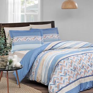 Постельное белье Ozdilek RANFORCE ECLECTIC хлопковый ранфорс голубой 1,5 спальный