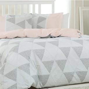 Постельное белье Ozdilek RANFORCE TRIGON хлопковый ранфорс серый 1,5 спальный