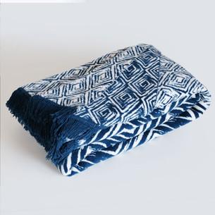 Плед Istanbul ETHNIK хлопок синий 150х200