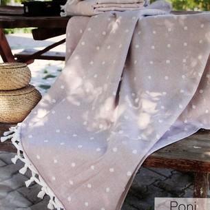 Пляжное полотенце, парео, палантин (пештемаль) Pupilla PONI хлопок светло-сиреневый 90х170