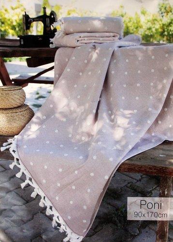 Пляжное полотенце, парео, палантин (пештемаль) Pupilla PONI хлопок светло-сиреневый 90х170, фото, фотография