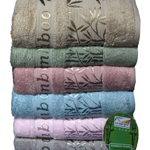Набор полотенец для ванной 6 шт. Cestepe VIP BAMBOO ZUMRUT бамбуковая махра 70х140