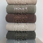 Набор полотенец для ванной 6 шт. Cestepe LUX COTTON DOSSE хлопковая махра 70х140, фото, фотография