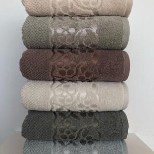 Набор полотенец для ванной 6 шт. Cestepe LUX COTTON DOSSE хлопковая махра 50х90