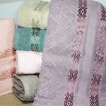 Набор полотенец для ванной 6 шт. Cestepe LUX COTTON MARE хлопковая махра 70х140, фото, фотография