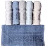 Набор полотенец для ванной 6 шт. Luzz COOL хлопковая махра 70х140, фото, фотография