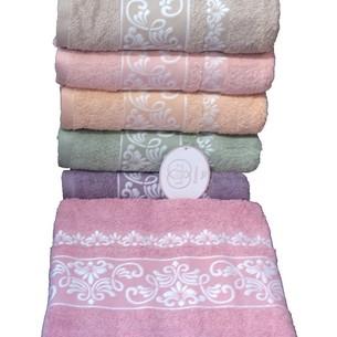 Набор полотенец для ванной 6 шт. Luzz PINAR хлопковая махра 70х140