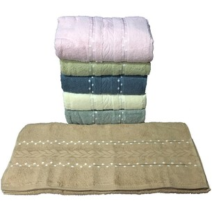 Набор полотенец для ванной 6 шт. Efor ORGU хлопковая махра 70х140