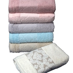 Набор полотенец для ванной 6 шт. Cestepe REGNUM ATHENA хлопковая махра 70х135