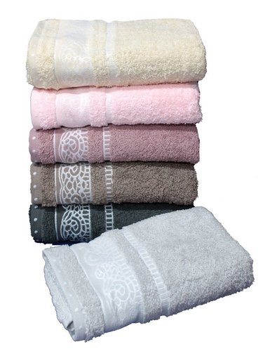Набор полотенец для ванной 6 шт. Cestepe REGNUM DILARA хлопковая махра 50х90, фото, фотография