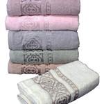 Набор полотенец для ванной 6 шт. Cestepe REGNUM MEHTAP хлопковая махра 50х90, фото, фотография