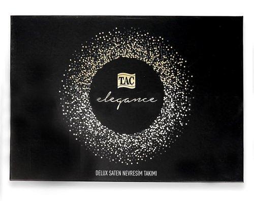 Постельное белье TAC ELEGANCE PRESTIGE хлопковый сатин делюкс чёрный евро, фото, фотография