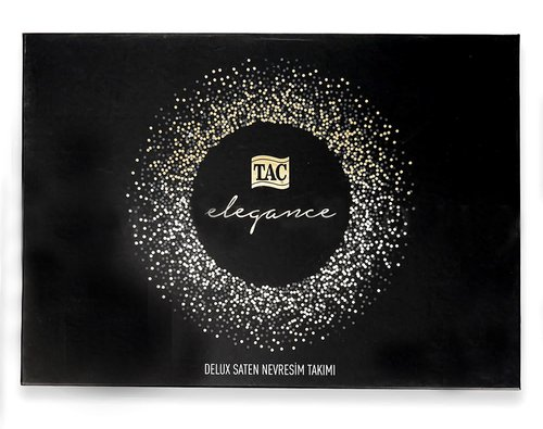 Постельное белье TAC ELEGANCE PRESTIGE хлопковый сатин делюкс кремовый евро, фото, фотография