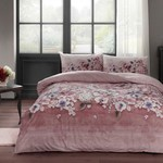 Постельное белье TAC HAPPY DAYS LIZA хлопковый ранфорс чайная роза 1,5 спальный, фото, фотография