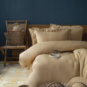 Постельное белье Issimo Home SIMPLY SATIN хлопковый сатин делюкс песочный 1,5 спальный