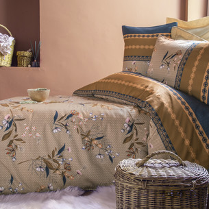 Постельное белье Issimo Home RANFORCE NAGOIA хлопковый ранфорс бежевый семейный