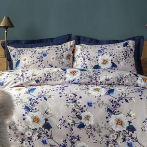 Постельное белье Issimo Home RANFORCE CAMILIA хлопковый ранфорс синий семейный