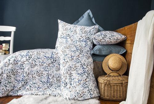 Постельное белье Issimo Home RANFORCE RAMIELLE хлопковый ранфорс голубой семейный, фото, фотография
