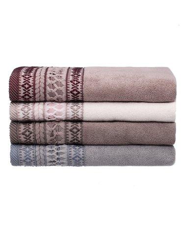 Набор полотенец для ванной 4 шт. Pupilla OTANTIK хлопковая махра V2 70х140, фото, фотография