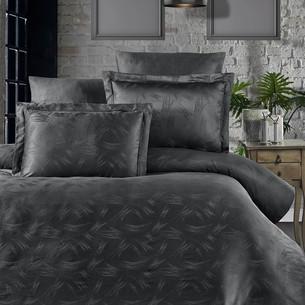 Постельное белье Ecosse SATIN JAKARLI JENNA хлопковый сатин-жаккард серый евро