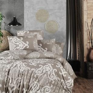 Постельное белье Ecosse RANFORCE VANESSA хлопковый ранфорс коричневый семейный