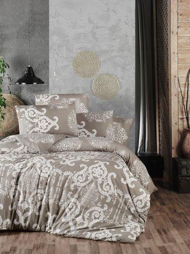 Постельное белье Ecosse RANFORCE VANESSA хлопковый ранфорс коричневый семейный, фото, фотография