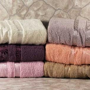 Набор полотенец для ванной 6 шт. Cestepe VIP COTTON DIANA хлопковая махра 70х140