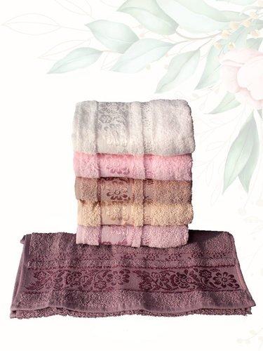 Набор полотенец для ванной 6 шт. Efor ACELYA хлопковая махра 30х50, фото, фотография