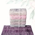 Набор полотенец для ванной 6 шт. Efor BAHAR хлопковая махра 70х140, фото, фотография