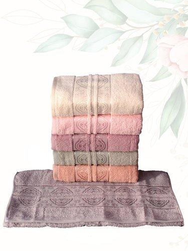 Набор полотенец для ванной 6 шт. Efor HAZAL хлопковая махра 50х90, фото, фотография