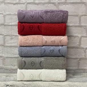 Набор полотенец для ванной 6 шт. Efor OMBRE хлопковая махра 70х140