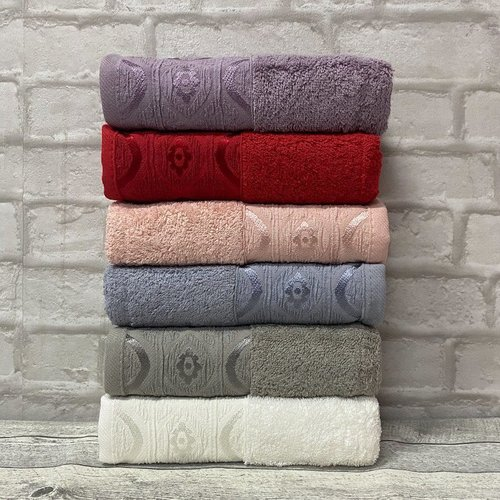 Набор полотенец для ванной 6 шт. Efor OMBRE хлопковая махра 70х140, фото, фотография