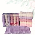 Набор полотенец для ванной 6 шт. Efor SARMASIK хлопковая махра 30х50, фото, фотография
