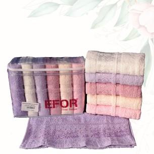 Набор полотенец для ванной 6 шт. Efor SARMASIK хлопковая махра 70х140