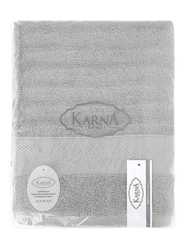 Полотенце для ванной Karna FLOW хлопковая махра серый 50х90, фото, фотография