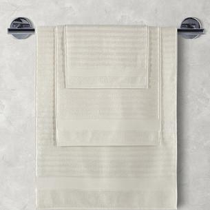 Полотенце для ванной Karna FLOW хлопковая махра кремовый 50х90