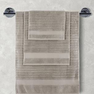 Полотенце для ванной Karna FLOW хлопковая махра кофейный 50х90