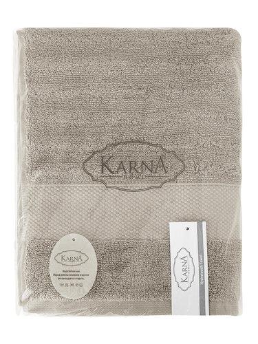 Полотенце для ванной Karna FLOW хлопковая махра кофейный 50х90, фото, фотография