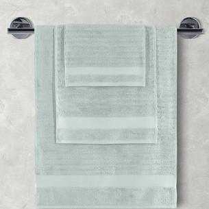 Полотенце для ванной Karna FLOW хлопковая махра зелёный 40х60