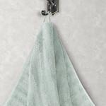 Полотенце для ванной Karna FLOW хлопковая махра зелёный 50х90, фото, фотография