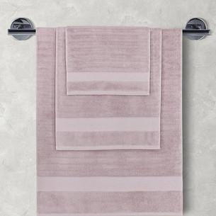 Полотенце для ванной Karna FLOW хлопковая махра светло-лавандовый 50х90