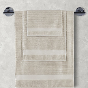 Полотенце для ванной Karna FLOW хлопковая махра бежевый 50х90