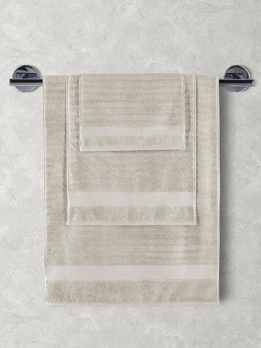 Полотенце для ванной Karna FLOW хлопковая махра бежевый 40х60, фото, фотография