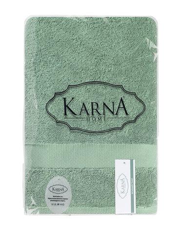 Полотенце для ванной Karna AREL хлопковая махра зелёный 100х150, фото, фотография